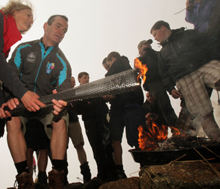 Paralympic torches lit on Britain's peaks