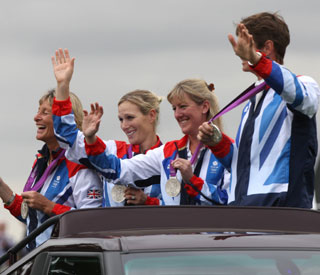 Zara Phillips celebrates Olympic triumph at Burghley