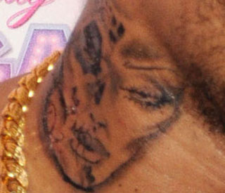 Chris Brown says new tattoo is not Rihanna