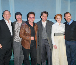 U2 drop in to premiere of Finding Neverland