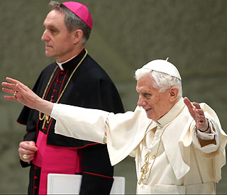 Pope Benedict standing down 'for good of the church'