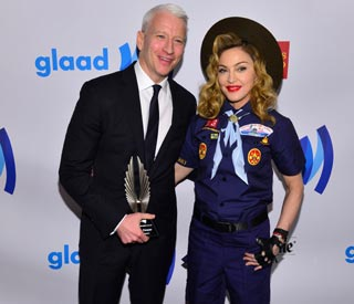 Madonna celebrates Anderson Cooper at the GLAAD awards