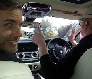 Gary Barlow and other celebs hit the road for charity drive