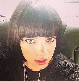 Back to black: Lily Allen unveils new hair