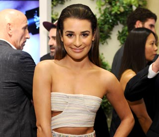Lea Michele shows off her toned stomach