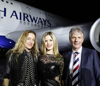 Georgia May Jagger launches A380 plane