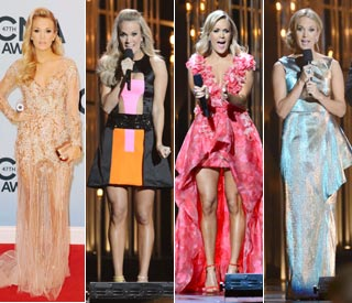 Carrie Underwood wears ten outfits to host CMAs