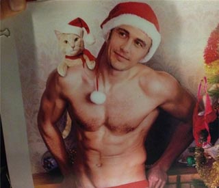 James Franco in spoof Christmas calendar