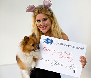 MIC's Cheska Hull gets mousey makeover for new RSPCA campaign