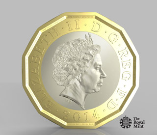 The Queen approves new £1 coin