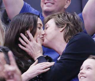 Sir Paul McCartney and Nancy Shevell caught on 'kiss cam'