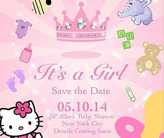 Lil' Kim reveals it's a girl in baby shower invite