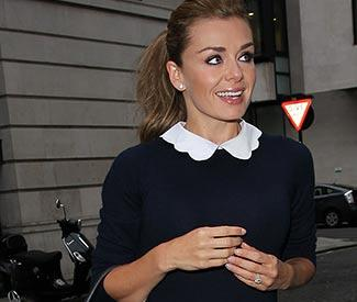 Katherine Jenkins shows off engagement ring at BBC