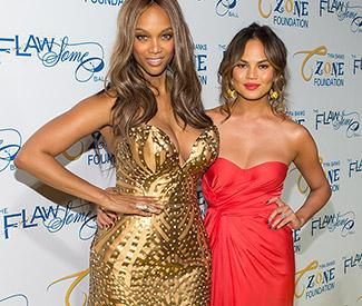 Chrissy Teigen and Tyra Banks at the Flawsome Ball