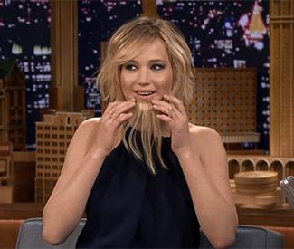 Jennifer Lawrence dons comedy beard on television