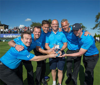 Mike Tindall leads the stars in the finale of the Celebrity Cup