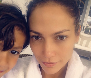 Jennifer Lopez photobombed by son Max in selfie