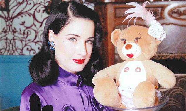 Dita Von Teese dares to bear as A-listers toy with their teddies