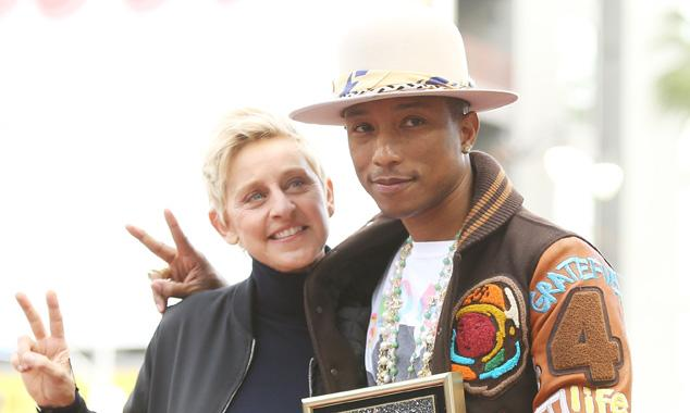 Pharrell Williams gets a star on the Hollywood Walk of Fame