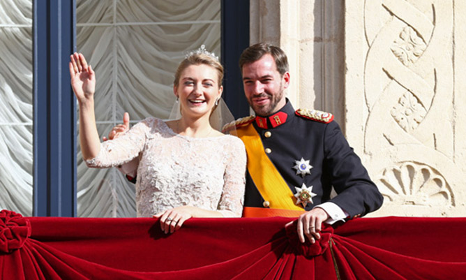 Prince Guillaume and Stephanie de Lannoy