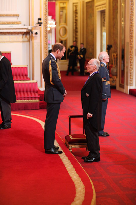 Marcus Setchell honoured by Prince William
