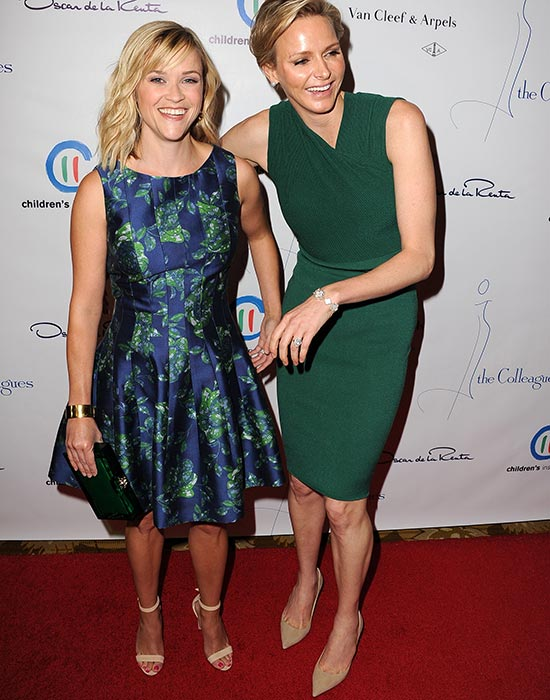 Princess Charlene of Monaco with Reese Witherspoon
