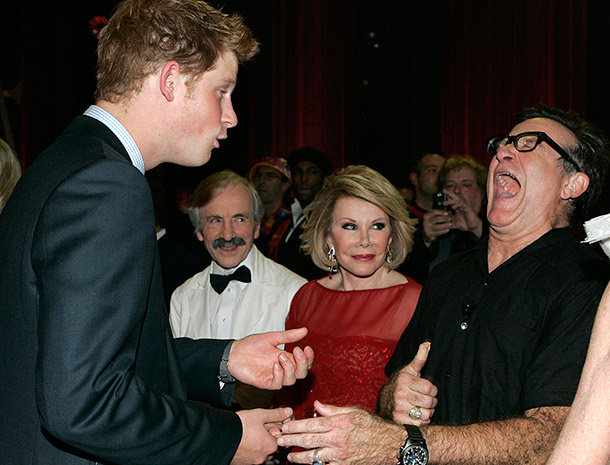 Prince Harry and Robin Williams