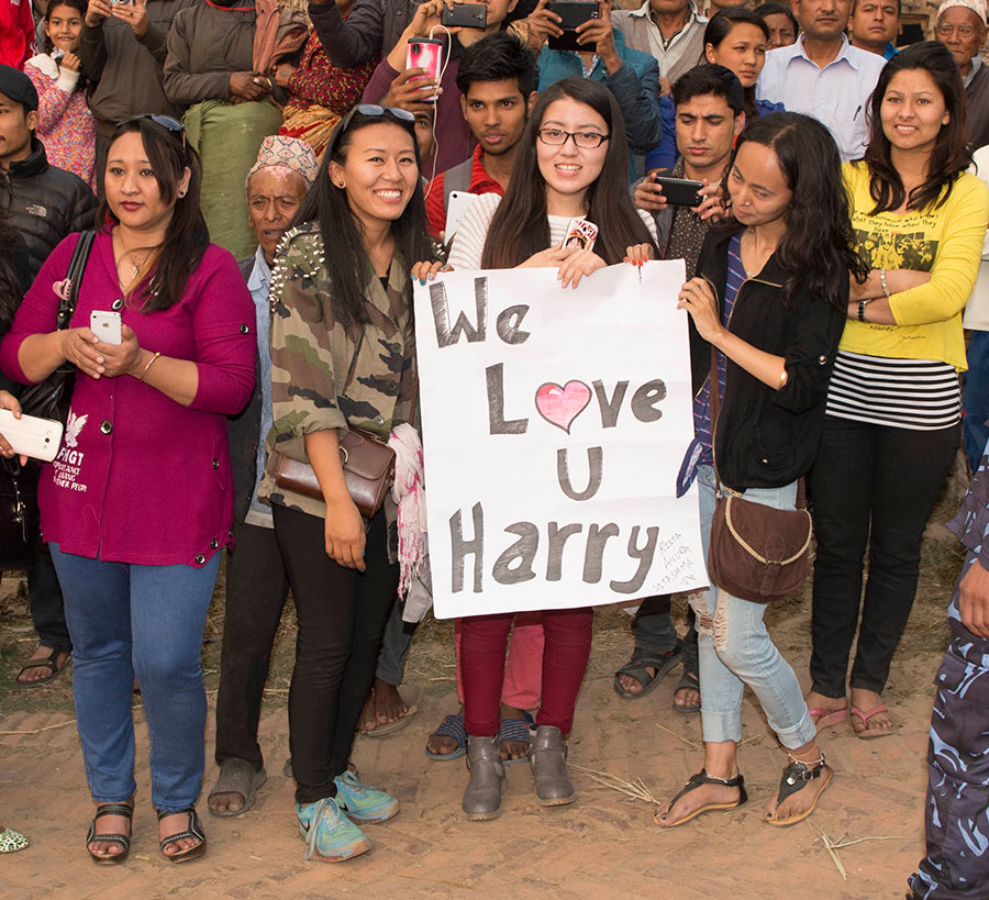 Prince Harry Does Tiger Impression In Nepal