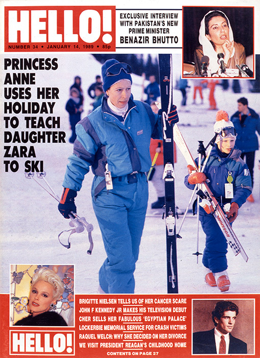 zara tindall princess anne ski break 1989