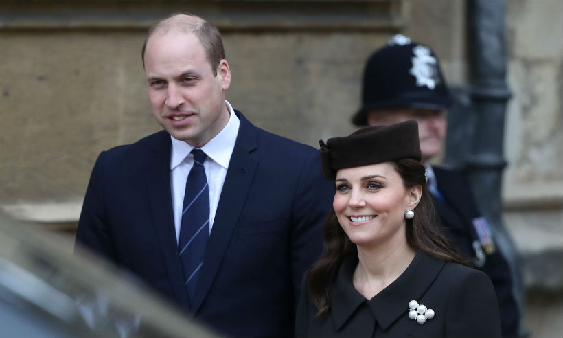 Prince William and Kate at Easter service