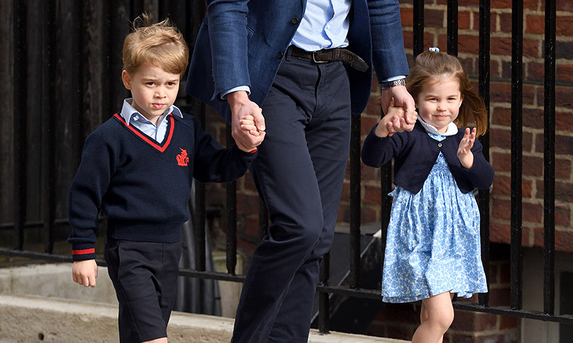 Prince George and Princess Charlotte at Lindo Wing
