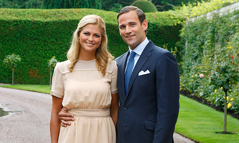 Princess Madeleine and Jonas Bergstrom after their engagement announcement