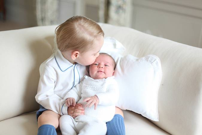 prince george princess charlotte official portraits