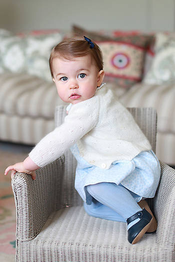 princess charlotte first birthday portraits