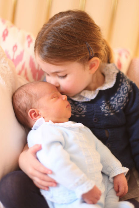 prince louis and princess charlotte official portrait