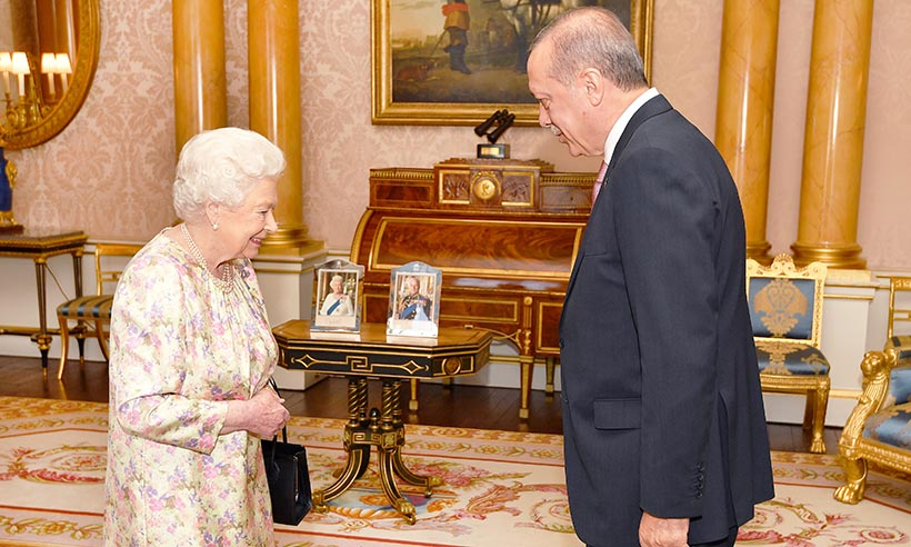 The Queen with Turkish Prime Minister