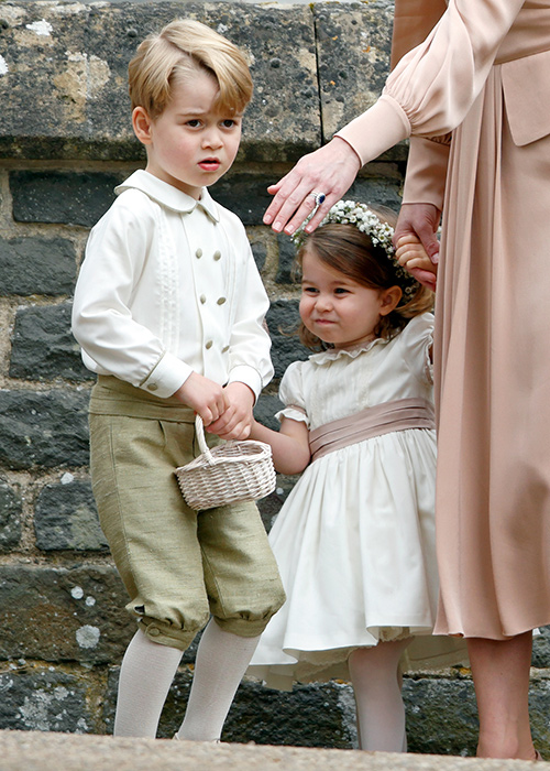 prince george and princess charlotte at pippa middleton wedding