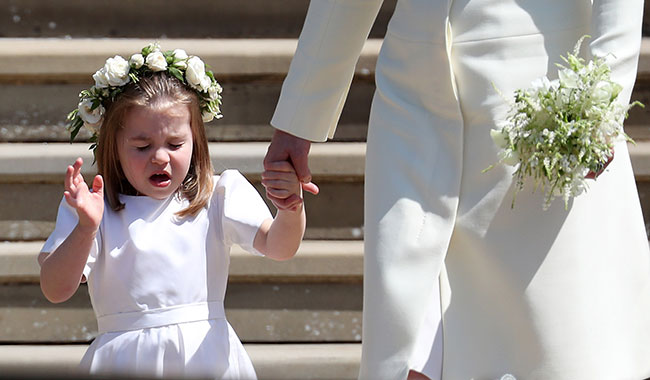 princess charlotte sneezing next to kate middleton