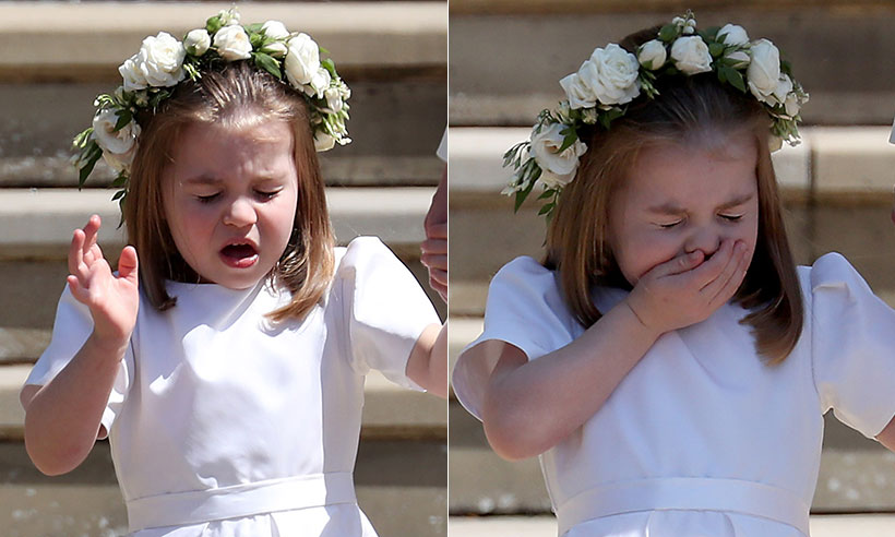 princess charlotte sneezes after royal wedding