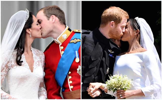 meghan-markle-kate-middleton-wedding-kiss-compared