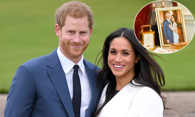 Prince Harry and Meghan Markle's private engagement picture revealed