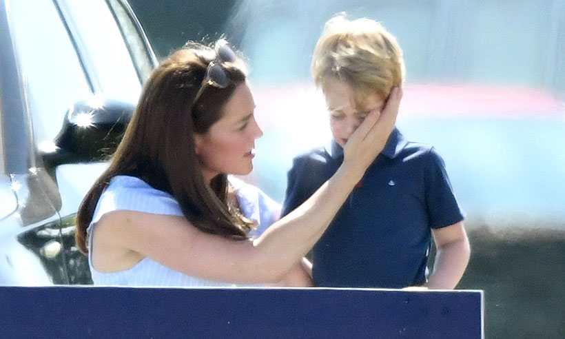 Kate Middleton comforting George