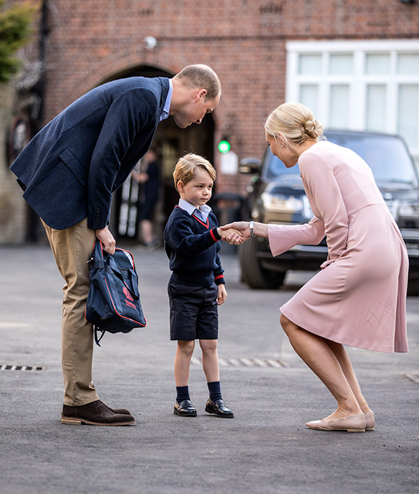 prince-george-handshake-first-day-school