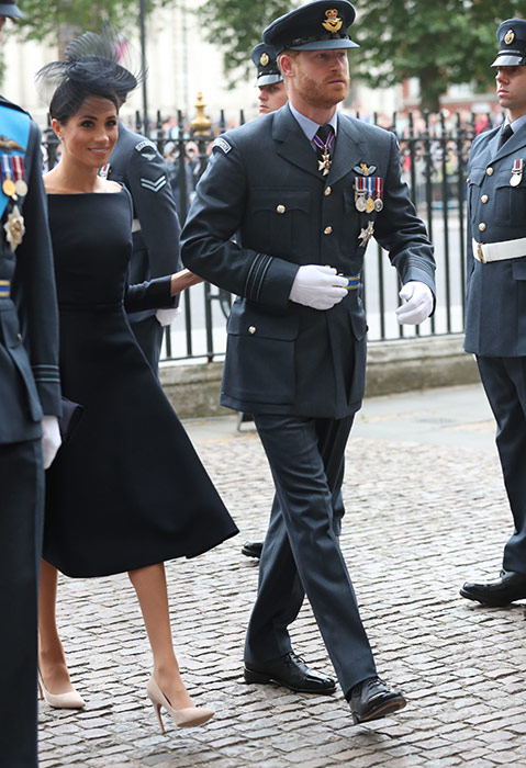 Meghan Markle and Prince Harry outside Westminster Abbey