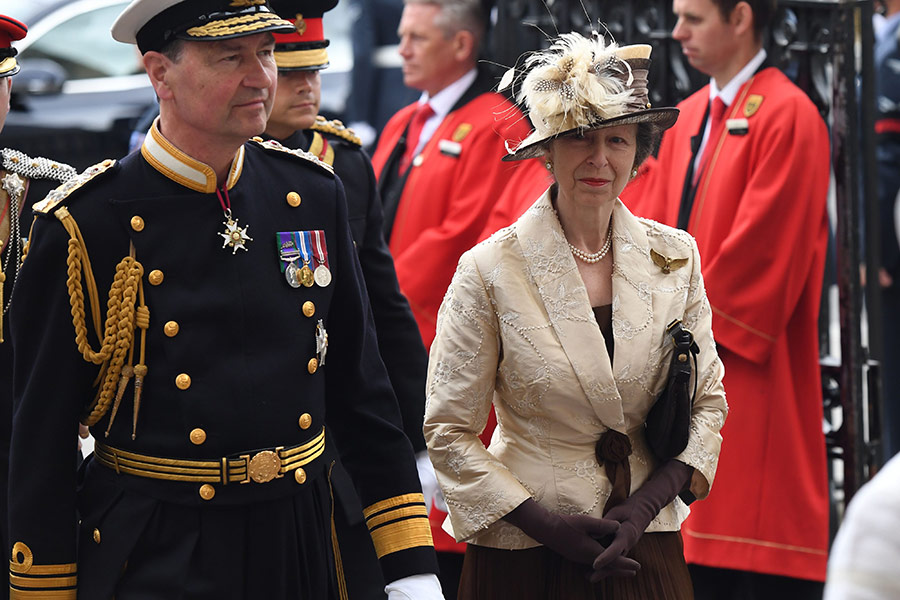 Princess Anne at RAF service