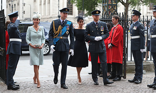All the best photos of Kate Middleton, Meghan Markle and other royals at RAF centenary service
