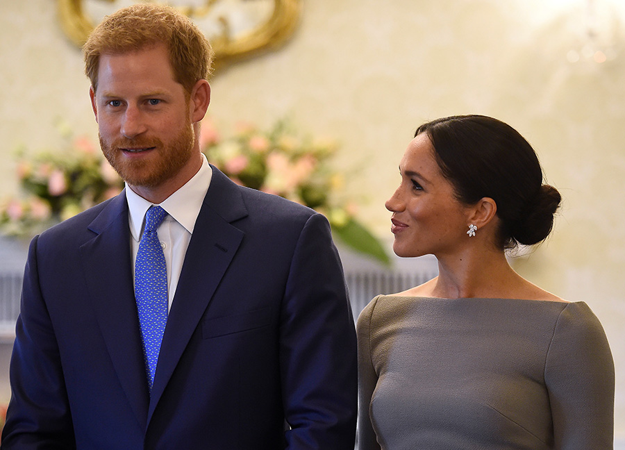 Meghan Markle and Prince Harry smiling in Dublin