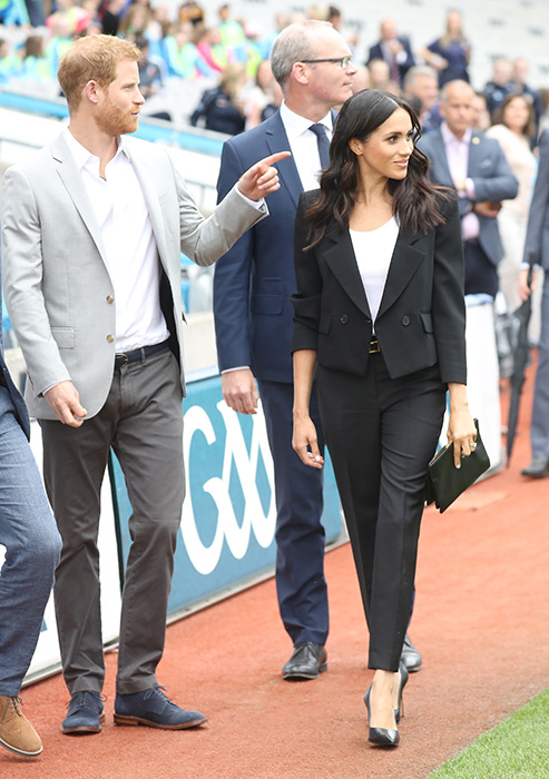 Prince Harry and Meghan at Croke Park