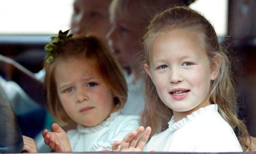 what is mia tindall holding in princess eugenies royal