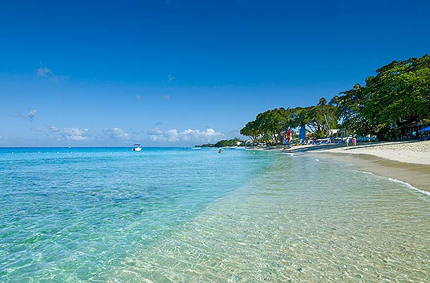 Barbados: white sands and turquoise waters